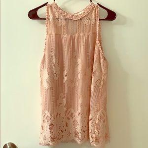 Taylor & sage floral lace blouse
